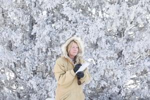 Laurel Beager, editor of the International Falls Journal newspaper in International Falls, Minnesota.