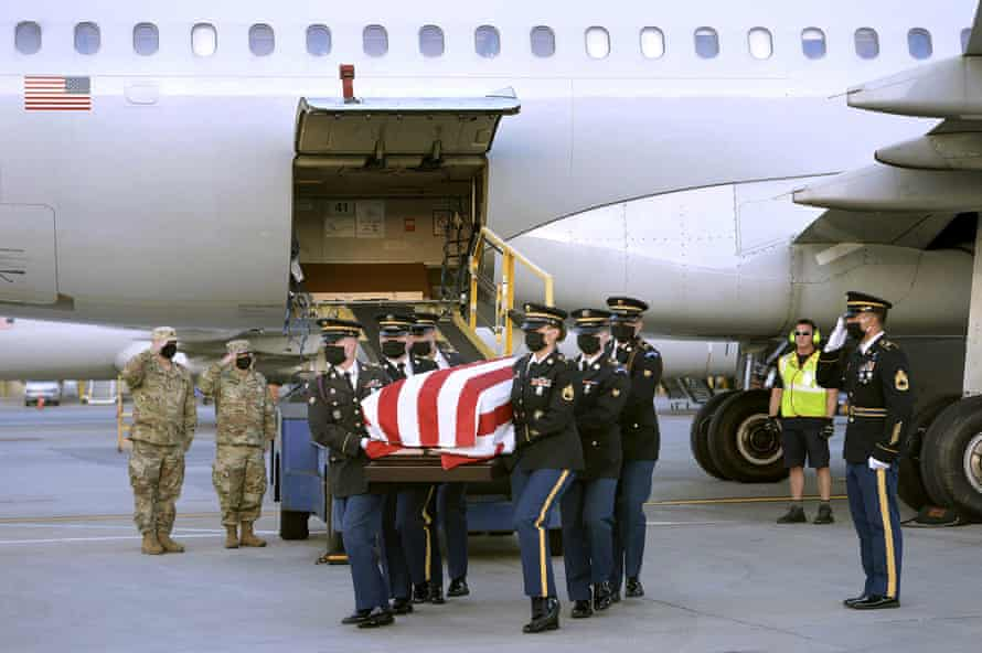 The body of US Army Sgt Elder Fernandes, whose death is under investigation, is returned to Massachusetts on 1 September.