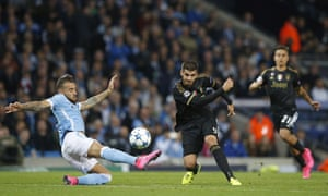 Alvaro Morata fires in the second for Juventus.