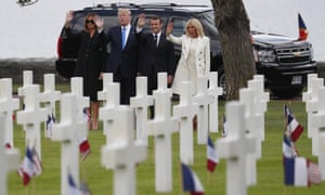 The Trumps and Macrons at the US cemetery.