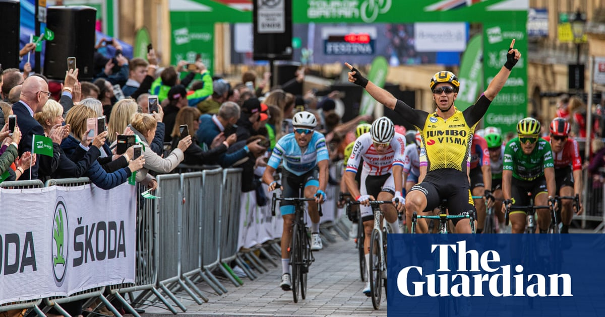 Dylan Groenewegen wins another Tour of Britain stage but Trentin leads