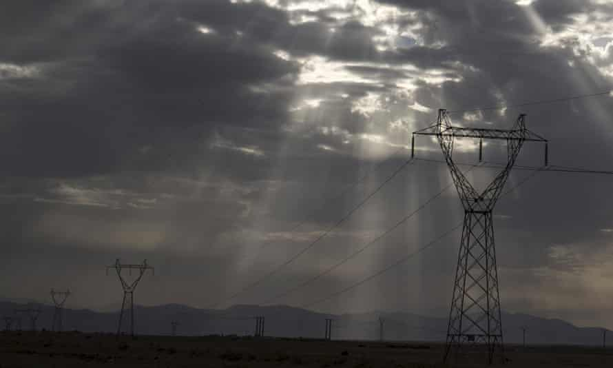 Power transmission line in Algeria