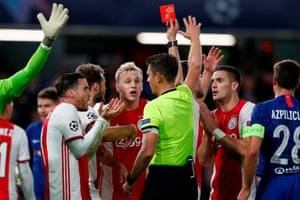 And then Joel Veltman is also sent off.