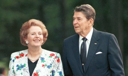Margaret Thatcher and Ronald Reagan pictured in 1988.