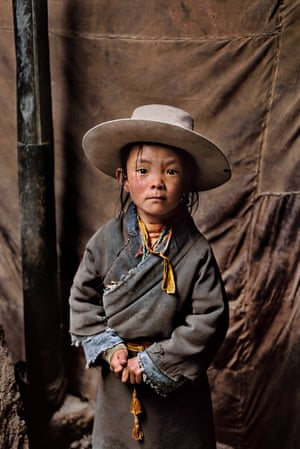 A child in Tibet