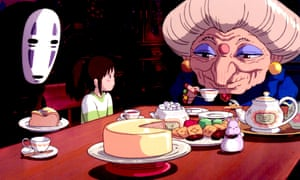 No Face, Chihiro and Zeniba in the film Spirited Away.