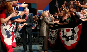 Bill Clinton campaigns alongside his wife in Philadelphia but Donald Trump hopes to turn the former president into a liability for Hillary Clinton.