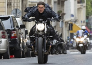 Tom Cruise in the sixth Mission Impossible film … he is now filming the next films in the UK.