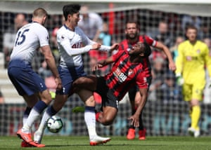 Son Heung-min barge into Jefferson Lerma earned him his marching orders. For Spurs it was a fifth defeat in eight games.