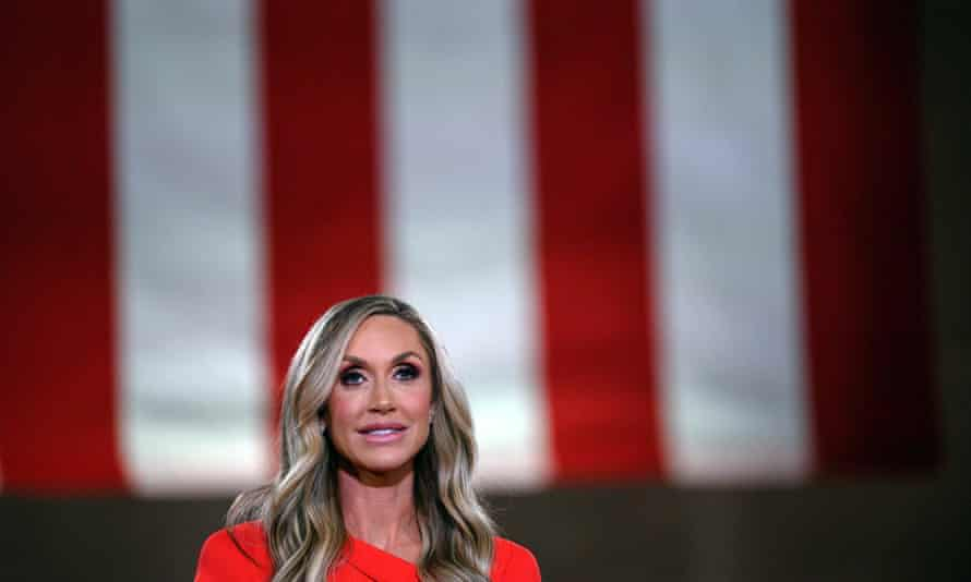 Lara Trump addresses the Republican national convention in August 2020.