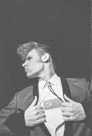 The 'Superman' shot of Mark as Henry One Hundred. Vest (and photograph) by Charlie Baker, circa 1987.