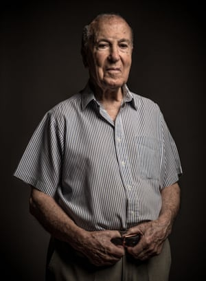 Joan Pons, 94  poses for a portrait