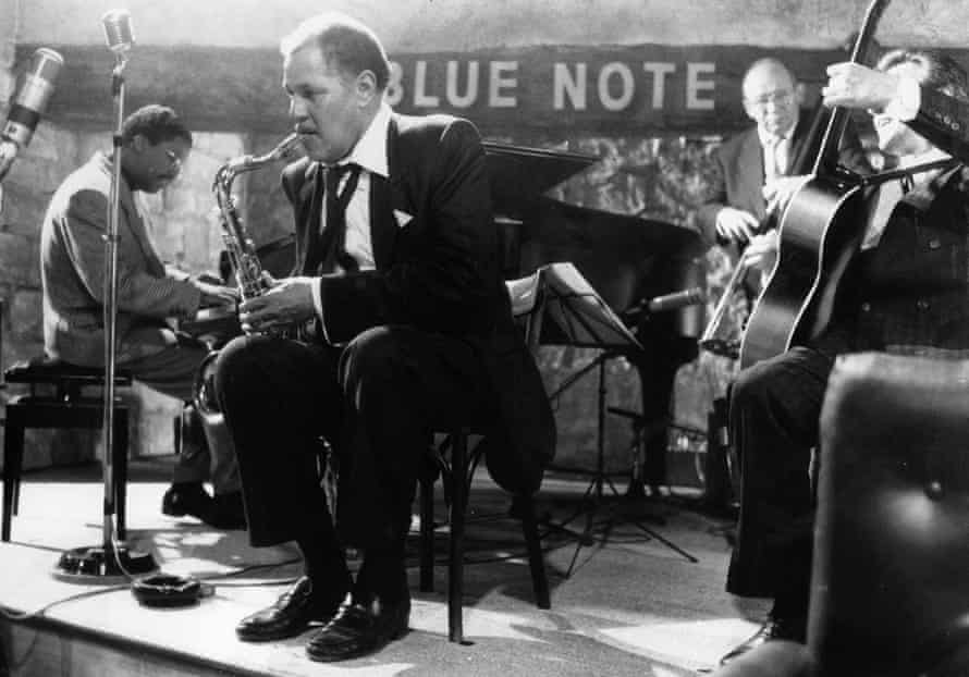 Dexter Gordon, second from left, and Herbie Hancock, left, in Tavernier's Round Midnight, 1986.