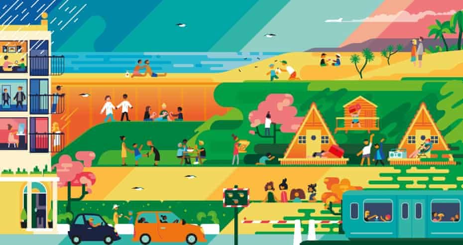 Travel illustration showing 'holiday hassles'