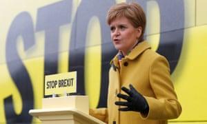 SNP leader Nicola Sturgeon campaigning in Edinburgh.