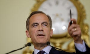 The governor of the Bank of England Mark Carney