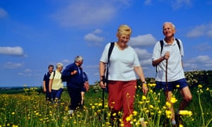 Ramblers in the Lincolnshire Wolds
