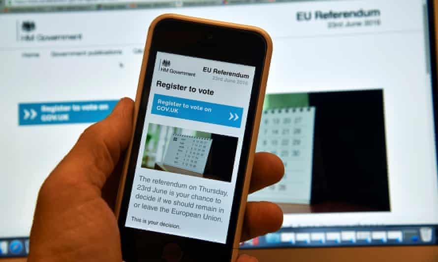 Voter registration site