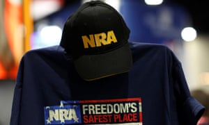An NRA cap and shirt on display at the Conservative Political Action conference in Maryland on 23 February.
