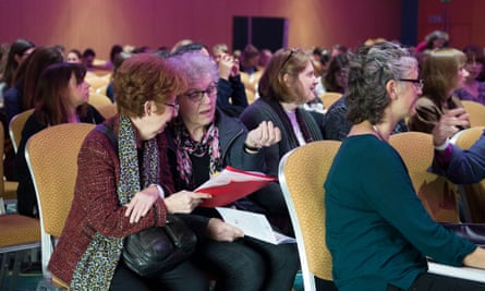 Women at the feminism London conference
