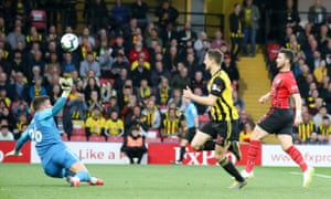 Shane Long (right) chipped Watford's Ben Foster after 7.69 seconds to score the fastest ever Premier League goal.