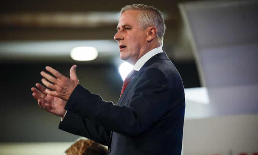 Acting prime Minister Michael McCormack during his address at the National Press Club in Canberra on Thursday.