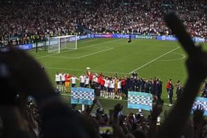 England players celebrate.