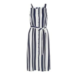 Striped button-up dress