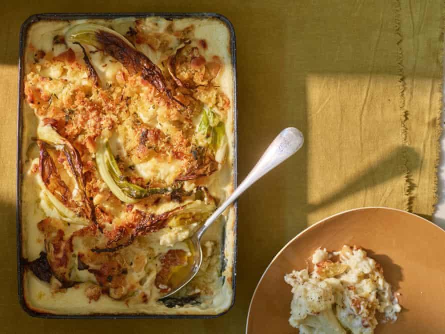 Anna Jones' confit garlic cauliflower cheese