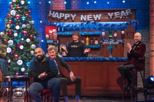 Asim Chaudhry, James Acaster, Lorraine Kelly and Tom Allen on The Last Leg of the Year