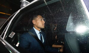 Israel Folau leaves a Code of Conduct hearing in Sydney on 7 May