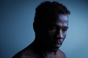 Sudanese refugee Abdul Aziz Muhamat, 25, was one of those detained on Manus Island prior to its official closure this year. Asylum seekers subsequently remained on the island and were left stranded without power and water. This photograph was named portrait of the year at the Walkleys in 2017.
