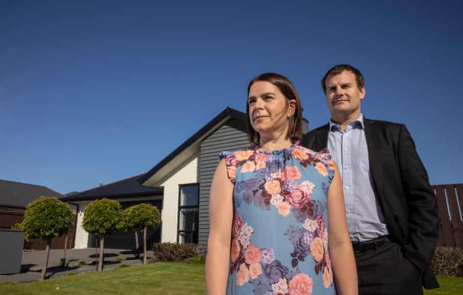 Christchurch earthquake survivor Emma Greenslade and her husband Chris