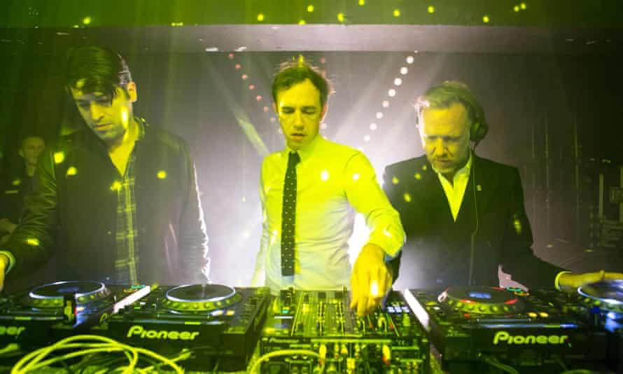 Imaginary boys … DJ Erol Alkan, and Stephen and David Dewaele of 2manydjs.