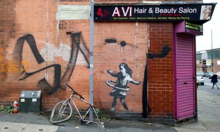 The Banksy artwork in Nottingham.
