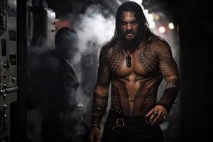 Jason Mamoa in Aquaman.