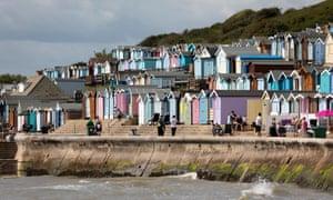 Beach huts at Walton-on-the-Naze, Essex