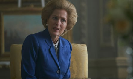 Gillian Anderson as Margaret Thatcher in The Crown, season 4.