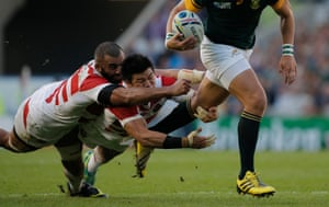 There are not enough words to praise the effort of the Japanese players, for whom the full-back Ayumu Goromaru scored 24 points, or their head coach, Eddie Jones. The pack were inspired, the midfield tigerish