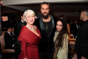 Dame Helen Mirren, Jason Momoa and Lisa Bonet attend HBO's celebration
