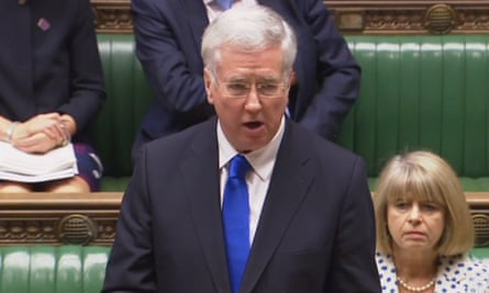 Michael Fallon makes a statement to the House of Commons.