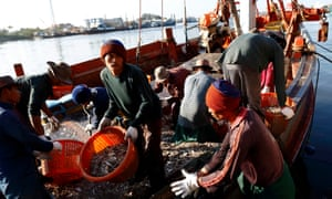 Thai fishing industry, migrant workers from Myanmar and Cambodia in Thailand.