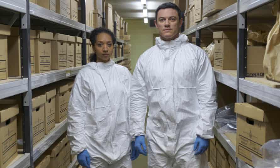 Alexandria Riley and Luke Evans in The Pembrokeshire Murders.