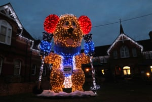 A 16ft illuminated marmot sculpture called 'Marmite', which has been erected outside the Assembly Rooms in Alton, Hampshire