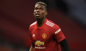 Paul Pogba of Manchester United looks on.