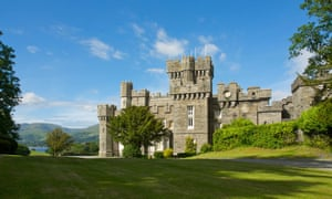 Wray Castle, on Windermere, on a bright, sunny day. The castle will host the National Trust's first Children's Book festival, from 4-6 March