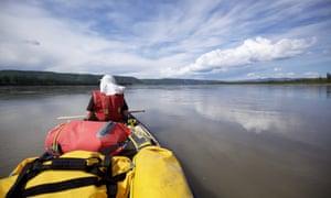Teslin river and lake area, Yukon, Canada