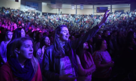 A convocation at the Vines Center in Lynchburg, Virginia, which topped the list of 'Bible-minded cities'.
