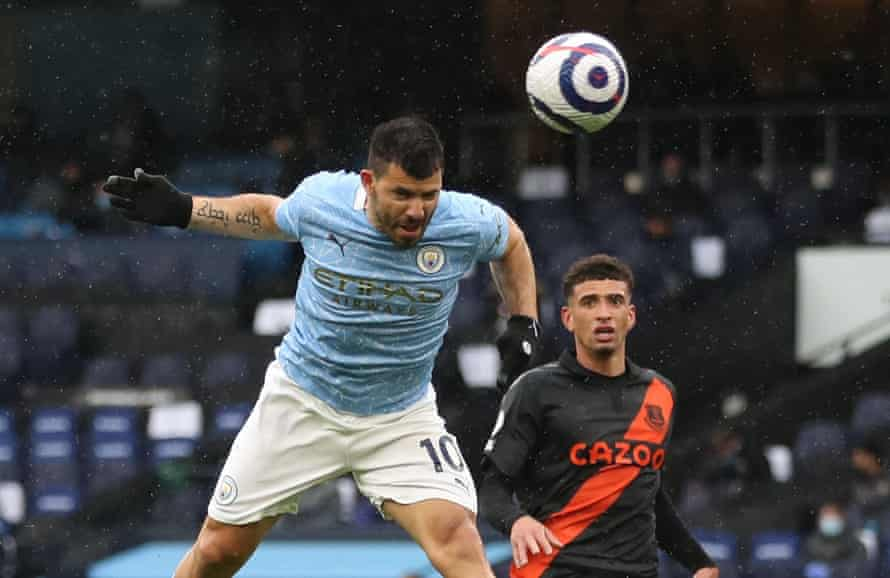 sergio agüero scores his second and manchester city's fifth goal.
