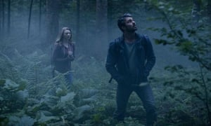 Natalie Dormer and Taylor Kinney in The Forest.
